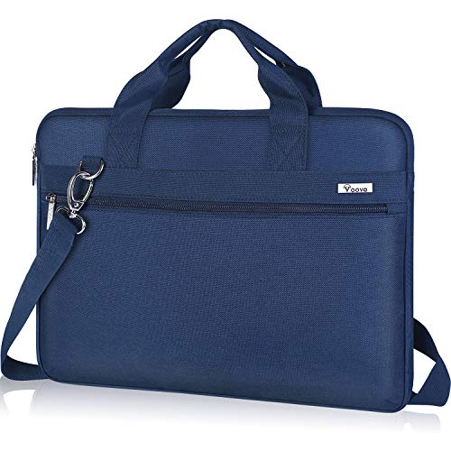Voova 15.6 14 15 Pulgadas Maletin Funda de Ordenador Portatil, Bandolera Bolsa Protectora Upgrade Compatible con MacBook Pro Retina 2020,Surface Book 3 2 XPS Envy Yoga Chromebook,HP ASUS Acer,Azul