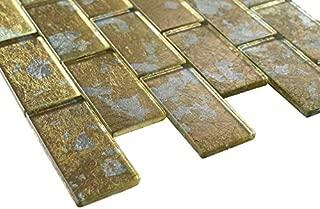 2x4 Glossy Glitter Gold Sky Subway Glass Mosaic Tiles for Bathroom and Kitchen Walls Kitchen Backsplashes