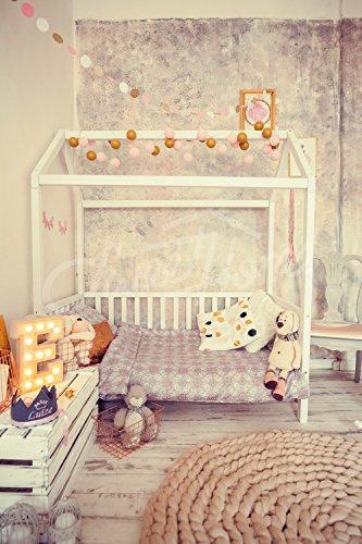 Sweet Home from Wood Kinder-Einzelbett Größe in weiß