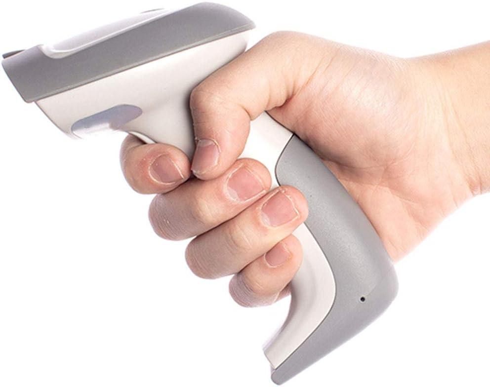 Lector de código de barras inalámbrico Distancia de transmisión USB inalámbrico 1D Láser Lector de código de barras automático Escáner de código de barras portátil con receptor USB para tienda