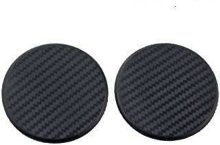 TRUE LINE Automotive Black Round Carbon Fiber Cup Holder Insert Interior Car Tray Anti Slip Pad