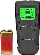 Detector de parede Lasamot 5 em 1 - Sensor eletrônico de pino de parede e scanner central - com visor LCD de bateria para ...