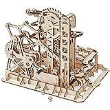 Robotime 3D Holzpuzzle Erwachsene Murmelbahn Board Games Mechanische Modell zum Bauen