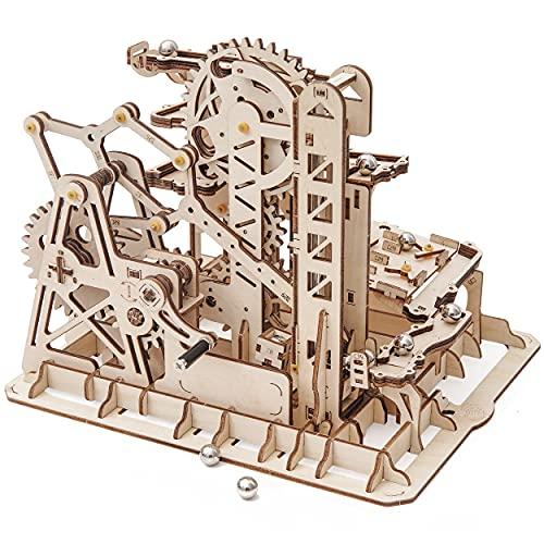 Robotime Laser Cut Puzzle de Madera   Kit de construcción Set Model   Juego de Puzzle en 3D (Tower Coaster)