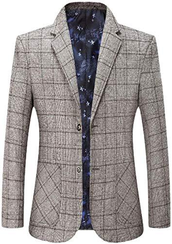 Avis N Men Business Plaid Casual Regular Fit Suit Coat Dress Blazer Jacket Sport Coat