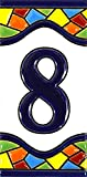 House numbers 4 inch. Handpainted house number tiles for signs, addresses and...