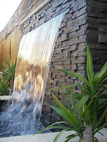 Cascada acrílica empotrable para piscina o fuente - 900*120mm