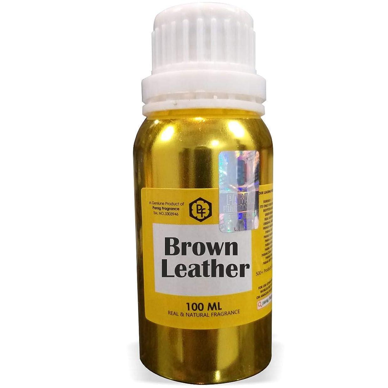 試みフィヨルド転用Paragフレグランスブラウンレザーアター100ミリリットル(男性用アルコールフリーアター)香油  香り  ITRA