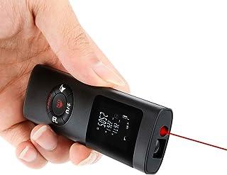 Medidor de distancia láser de 40 m con batería de litio recargable, distancia de medida, área, cálculo de volumen