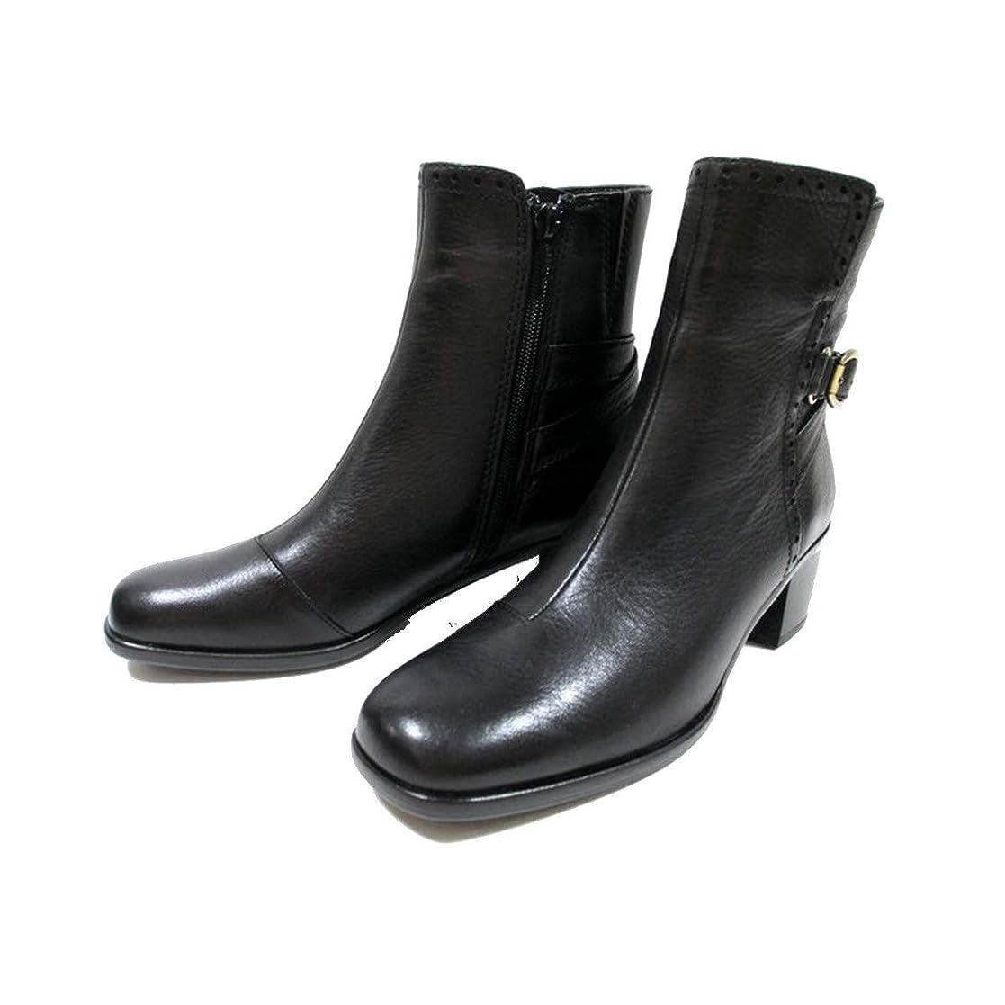 モナリザ読み書きのできない閲覧する[イング] 1640 レディース 革ブーツ ジョッキブーツ ショートブーツ スクエアトゥ 通勤靴