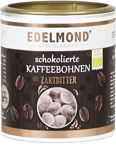 Edelmond Bio Kaffeebohnen in Schokolade mit besonders viel Kaffee. Das Geschenk für Kaffee Liebhaber. Vegan und Fair-Trade (200g)