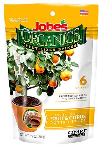 Jobe's Organics Fruit & Citrus Fertilizer Spikes, 6 Spikes