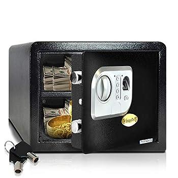 SereneLife Safes And Lock Boxes - Digital Safe Box Home Safe Box Combination Safe Box Steel Alloy Drop Safe - Includes Keys SLSFE24FP