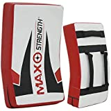 MAXSTRENGTH Gel Kick Strike Shield for Kickboxing Training | Curved Muay Thai Kicking Pad, Strike Body Shield | Great for MMA, Martial Arts, Karate Workout (Max Printed (Single)