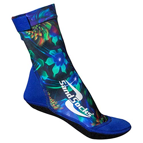 Sand Socks for Beach Soccer, Sand Volleyball and Snorkeling Hawaiian Small