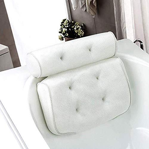 YALIXI Bath Pillow Cushion, Bathtub Pillows,Bathroom Pillow with Suction Cup,Breathable 3D Mesh Bath Pillow,Head Neck Shoulders Back Support,Suitable for Hot Tubs, Jacuzzis, Spas