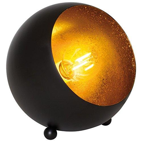 Tischleuchte Tischlampe Metall schwarz matt/gold 1 x E14/28W (schwarz)
