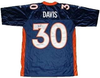 Terrell Davis Autographed Jersey - #30 Reebok Premier - JSA Certified - Autographed NFL Jerseys