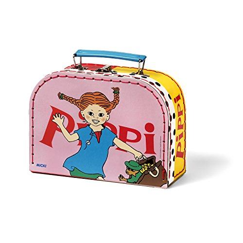 Micki & Friends 44378800 Pippi Langstrumpf Kinder-Koffer - Tasche - 20 cm - Größe (B/L/H): 20x8x15,5 cm, rosa mit Henkel und Verschluss - ab 3 Jahre