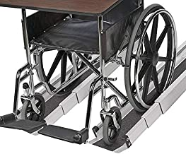 MABIS Portable Wheelchair and Threshold Ramp, Adjustable between 3 and 5 Feet Long and 4.5 inches Wide, Cover Included, 2 Each, Silver