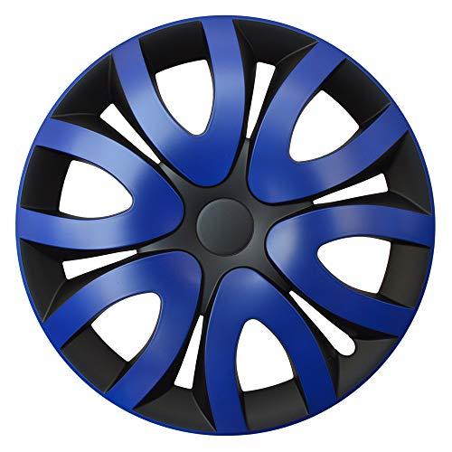 CM DESIGN MIKA Blau Schwarz - 16 Zoll, passend für Fast alle Mercedes Benz z.B. für SL R231 original Schnittmuster