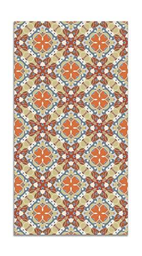 Panorama Alfombra Vinílica Hidráulico Oriental Mosaico Original 160x230 cm - Alfombra Cocina Vinilo - Alfombra Salón Antideslizante e Ignífuga - Alfombras Grandes - Alfombras PVC
