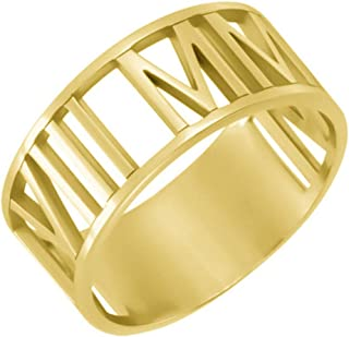 gold roman numeral ring