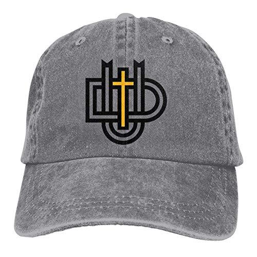 Alicoco Dordt University Logo Classic Cowboy Hat Gorra de béisbol Ajustable, Sombrero para el Sol, Unisex Casual Sports Hat Casquette Grey