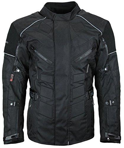 Herren Touren Motorradjacke Textil Heyberry schwarz Gr. L - 4