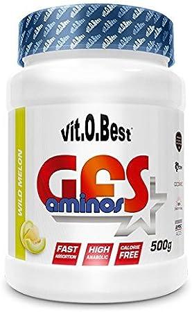 Aminoácidos Esenciales GFS AMINOS Powder Polvo, Cápsulas y viales - Fuerte Recuperador Muscular - Suplementos Deportivos - Vitobest (Wild Melon, 500g)