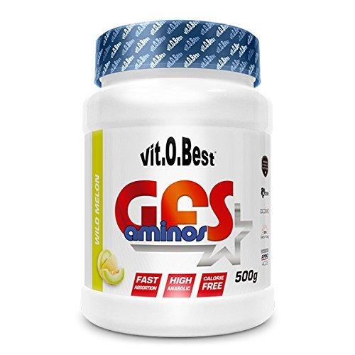 Aminoácidos Esenciales GFS AMINOS Powder Polvo, Cápsulas y viales - Fuerte Recuperador Muscular - Suplementos Deportivos - Vitobest (Fresh Lemon, 500g)