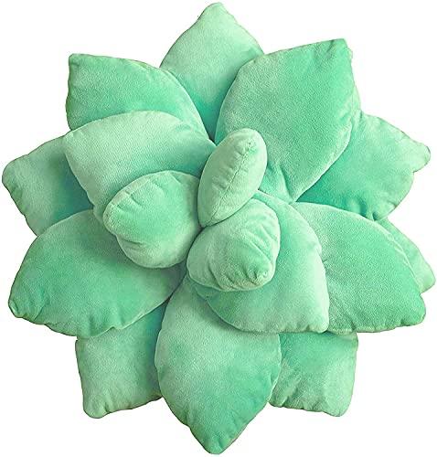 3D Suculentas Almohada Cactus Lindas, Almohada de Cactus, Almohada en forma de planta, Almohada en forma de hoja, Almohada en forma de flo