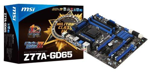 MSI Z77A-GD65 (G3) Sockel 1155 Mainboard (ATX, Intel Z77, 4X DDR3, DVI-D, HDMI, VGA, 2X SATA III, 2X USB 3.0)