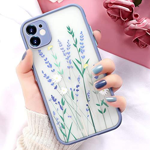 Tybiky Funda para teléfono móvil iPhone Xr, ultrafina, suave, de silicona, transparente, protección para iPhone XR, carcasa de TPU resistente a los arañazos, diseño de flores, color lila