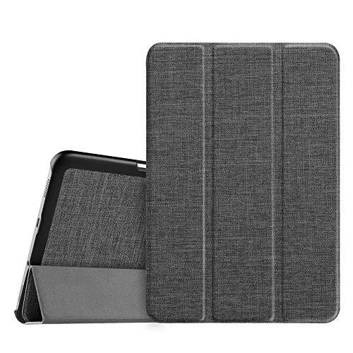 Fintie Hülle für Samsung Galaxy Tab S2 8.0 T710 / T713/ T715 / T719 (8 Zoll) Tablet-PC - Ultra Schlank Superleicht Ständer SlimShell Cover Schutzhülle mit Auto Schlaf/Wach Funktion, Stoff dunkelgrau