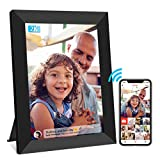 Frameo Digital Frame WiFi 10 inch, 2K IPS Touch Screen Smart Cloud Photo Frame, Easy to Share Photos and Videos via Free Frameo APP, 16GB Storage, Auto-Rotate, Wall Mountable