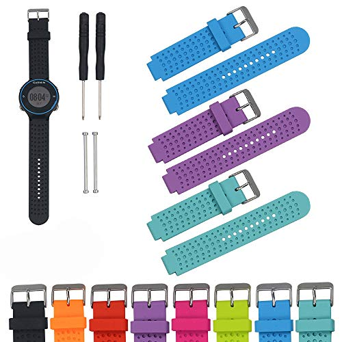Preisvergleich Produktbild iFeeker Zubehör Luftloch Stil Weichen Silikon Smart Watch Strap Ersatz Uhrenarmband für Garmin Forerunner 220 / 230 / 235 / 630 / 620 / 735XT Sport GPS Laufuhr