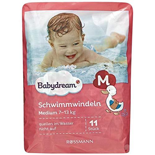 babydream Schwimmwindeln medium 1 x 11 Stück 7-13 kg, besonders weich & flexibel, praktische Anwendung, zuverlässiger Auslaufschutz