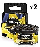 AREON Ken Deodorante Auto Vaniglia Mia Dolce Profumatore Contenitore Scatola 3D (Set x 2)