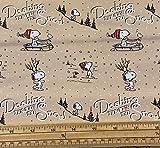 Fat Quarter Quilt-Stoff mit weihnachtlichem Snoopy-Motiv,