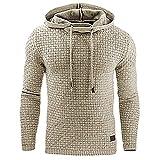 Hombre Suéter Otoño/Invierno Color sólido Sencillo Deportes Casual Suéter Chaqueta Cordón con Capucha Canguro Bolsillo L
