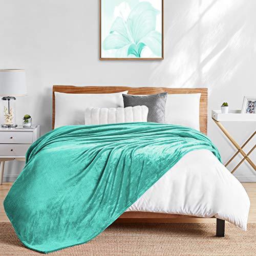 Walensee Cobertor de lã felpudo leve (tamanho Queen 228,6 cm x 228,6 cm turquesa) cobertores de flanela de microfibra super macios para sofá, cama, sofá ultra luxuosos quentes e aconchegantes para todas as estações
