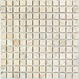 Mosaico baldosas de piedra caliza, piedra natural, color blanco y amarillo seabed limeston...