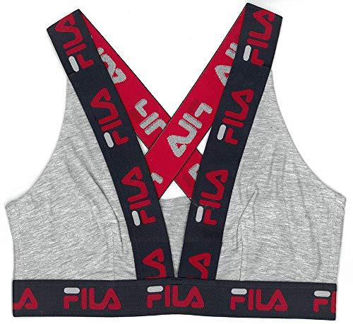 reggiseno sportivo fila Fila Women's Logo Cotton Cross-Back Sports Bra