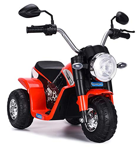 kid go Moto Elettrica per Bambini 6V Baby Rossa