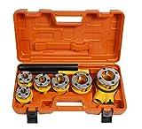 Vetrineinrete® Filiera per tubi idraulici 6 pezzi filettatrice con cricchetto in valigett...