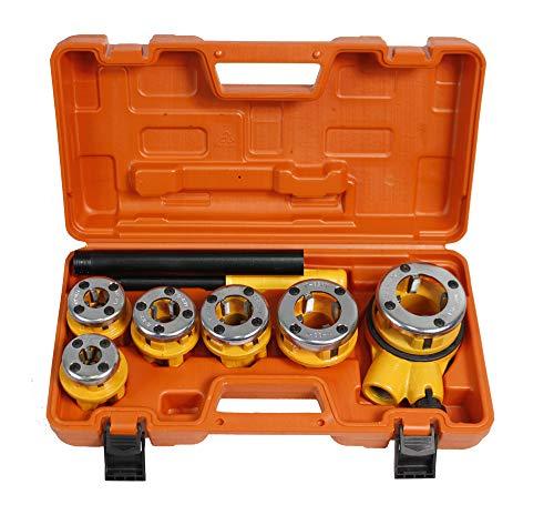 Vetrineinrete® Filiera per tubi idraulici 6 pezzi filettatrice con cricchetto in valigetta utensili fai da te B32