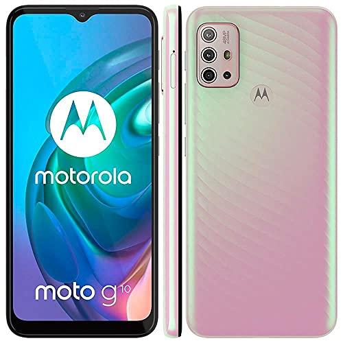 "Celular Motorola Moto G10 Branco Floral 64gb Tela 6.5"" 4gb Ram Câmera Quádrupla 48mp + 8mp + 2mp + 2mp"