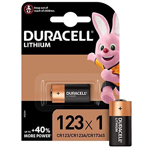 Duracell 123106 High Power CR123/CR123A/CR17345 - Pilas Especiales de Litio de 6 V, Diseñadas para su Uso en Sensores, Cerraduras sin Llave, Flash de Cámara y Linternas, Paquete de 1 Unidad