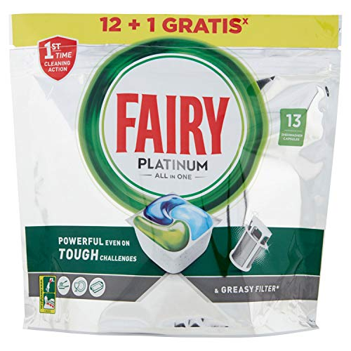 Fairy Platinum Normal Cápsulas de Lavavajillas, 13 Cápsulas
